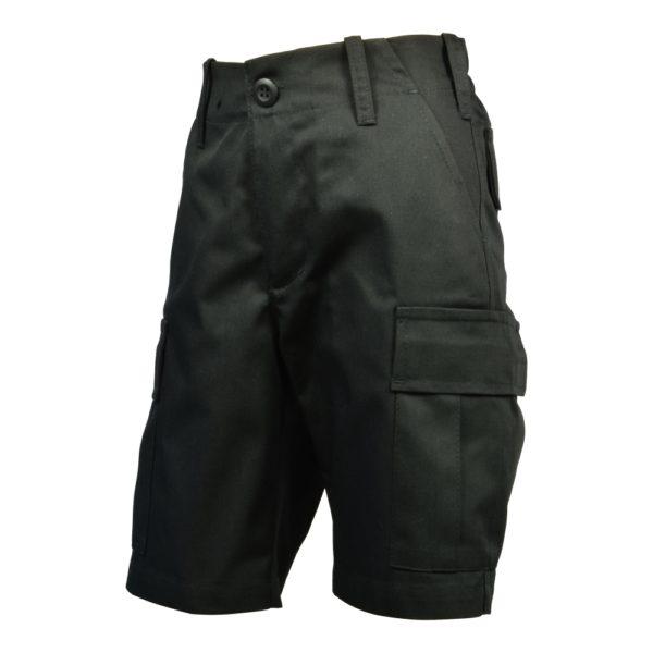 Spodnie Bojówki Krótkie Junior Czarne
