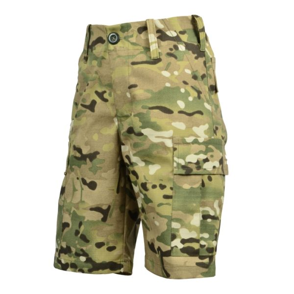 Spodnie Bojówki Krótkie Junior Multicamo