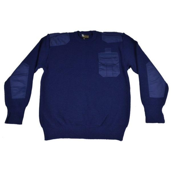 Sweter Mundurowy Granatowy