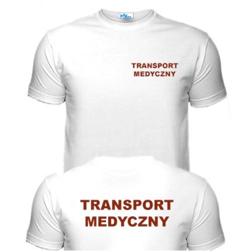 Koszulka Biała TRANSPORT MEDYCZNY