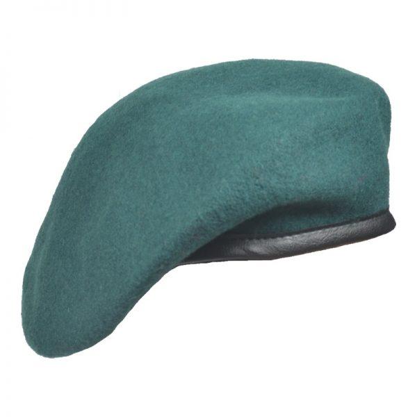Beret Militarny Tłoczony Ciemnozielony