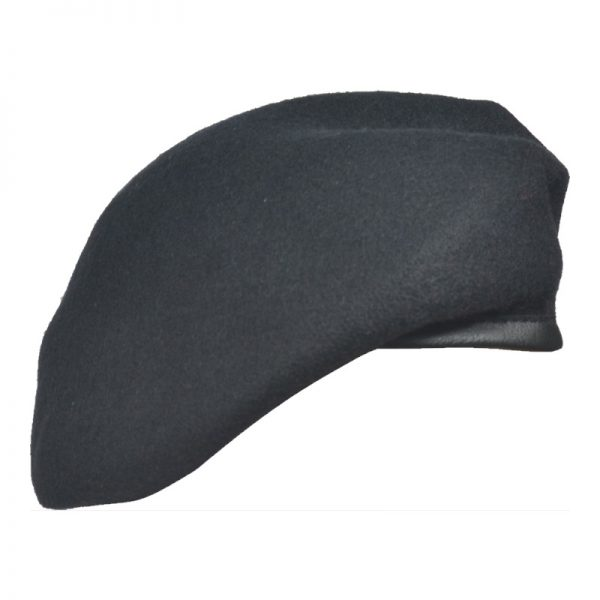 Beret Militarny Tłoczony Czarny