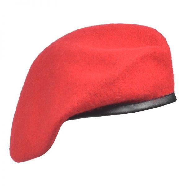 Beret Militarny Tłoczony Czerwony
