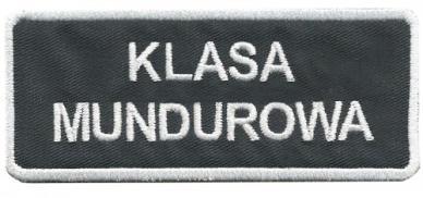 Plakietka Klasa Mundurowa 12X5 Klej