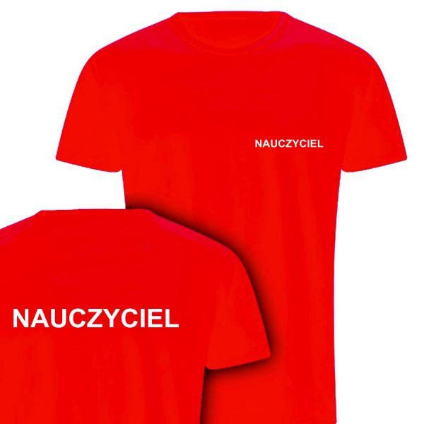 Koszulka czerwona NAUCZYCIEL