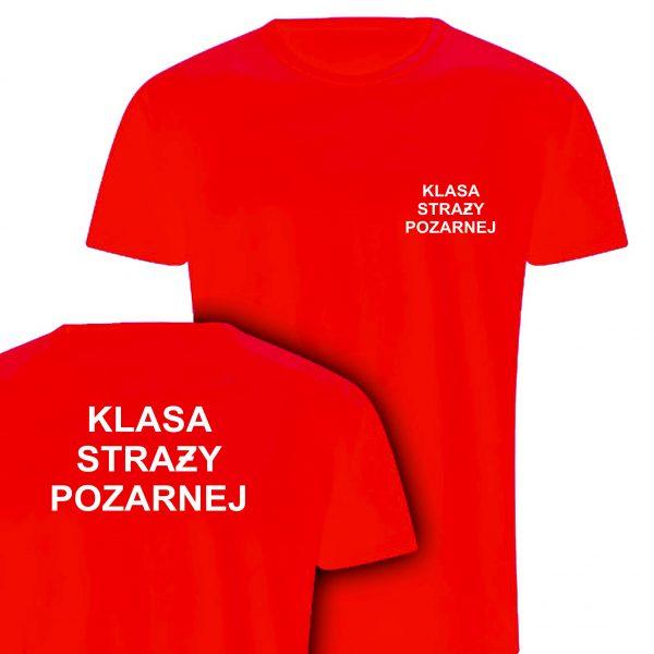 Koszulka czerwona KLASA STRAŻY POŻARNEJ