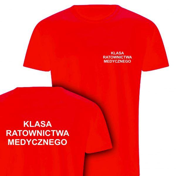 Koszulka czerwona KLASA RATOWNICTWA MEDYCZNEGO