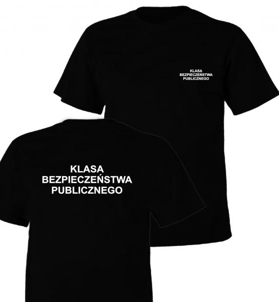 Koszulka czarna KLASA BEZPIECZEŃSTWA PUBLICZNEGO