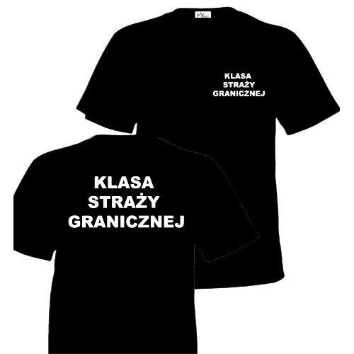 Koszulka Czarna KLASA STRAŻY GRANICZNEJ