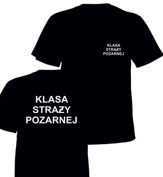 Koszulka czarna KLASA STRAŻY POŻARNEJ