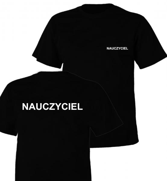 Koszulka czarna NAUCZYCIEL