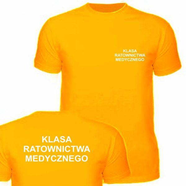 Koszulka pomarańczowa KLASA RATOWNICTWA MEDYCZNEGO