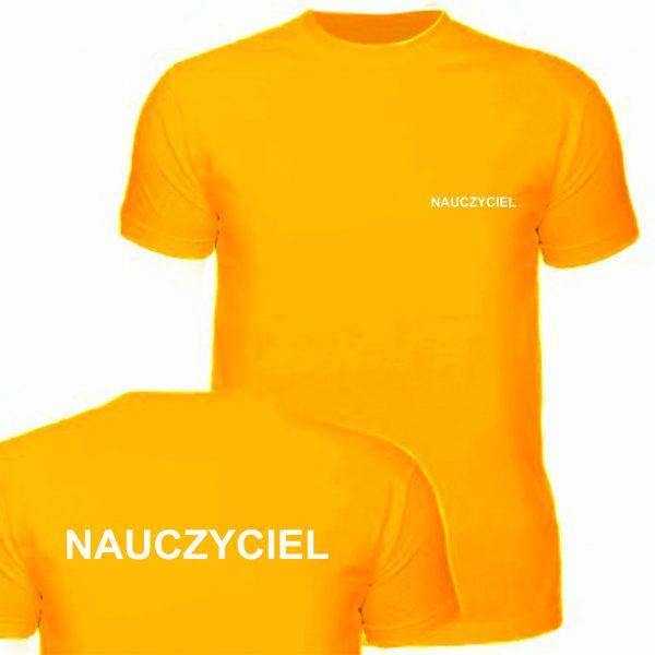 Koszulka pomarańczowa NAUCZYCIEL