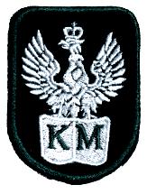 Plakietka Haftowana Orzeł Wojskowy Czarny