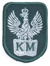 Plakietka Haftowana Orzeł Wojskowy Bordowy