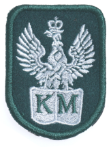 Plakietka Haftowana Orzeł Wojskowy Zielony