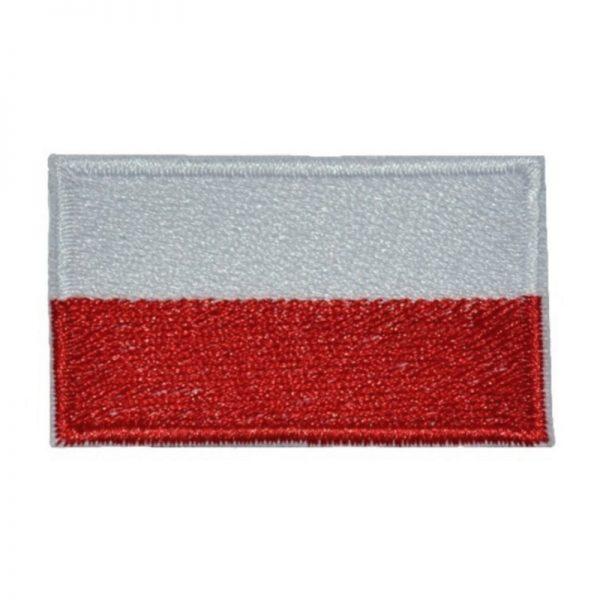 Plakietka Flaga PL Biało-Czerwona na Klej