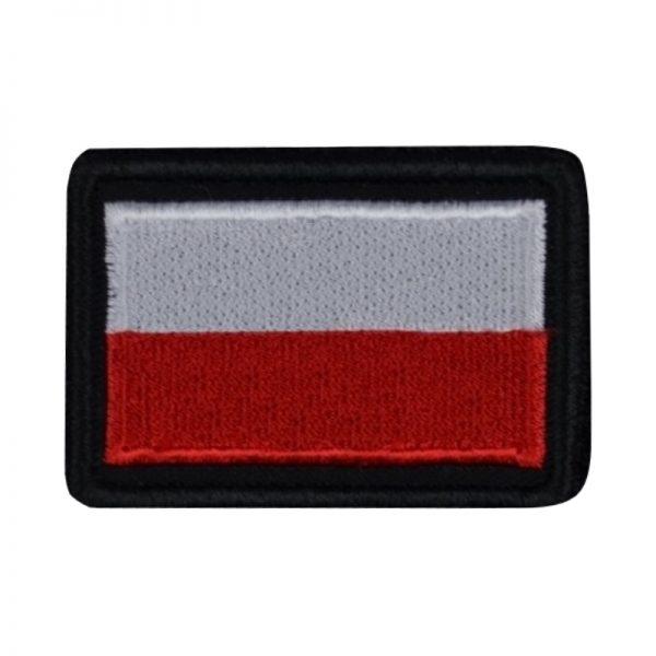 Plakietka Flaga PL Biało-Czerwona na Rzep