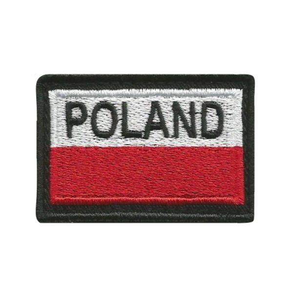 Plakietka Flaga Biało-Czerwona POLAND na Rzep