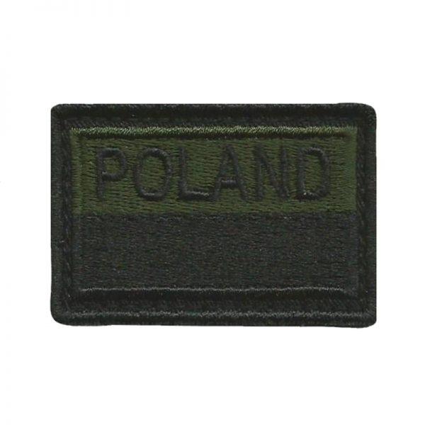 Plakietka Flaga Polski Gaszona POLAND na Rzep