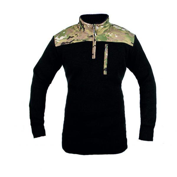 Sweter Haasta Czarny/Multicamo