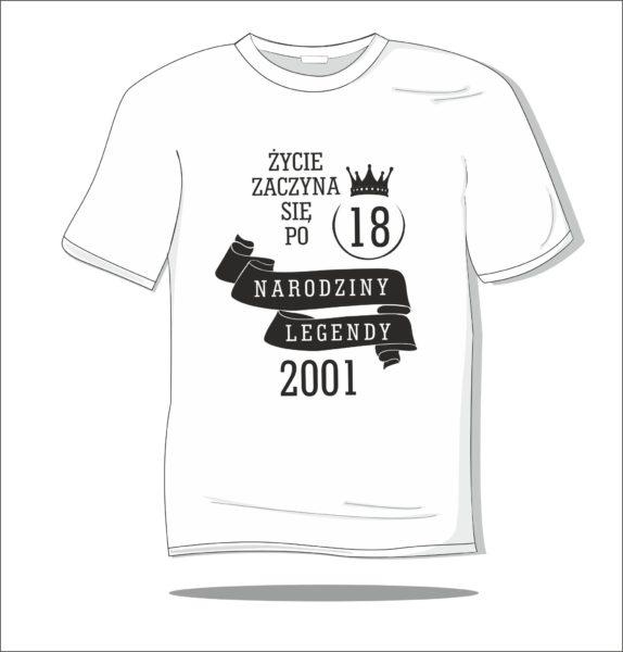 Koszulka z nadrukiem 18 urodziny