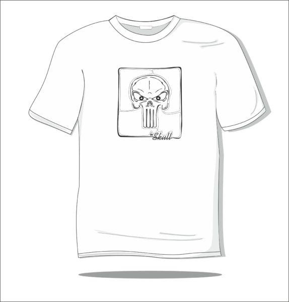 Koszulka z nadrukiem Skull