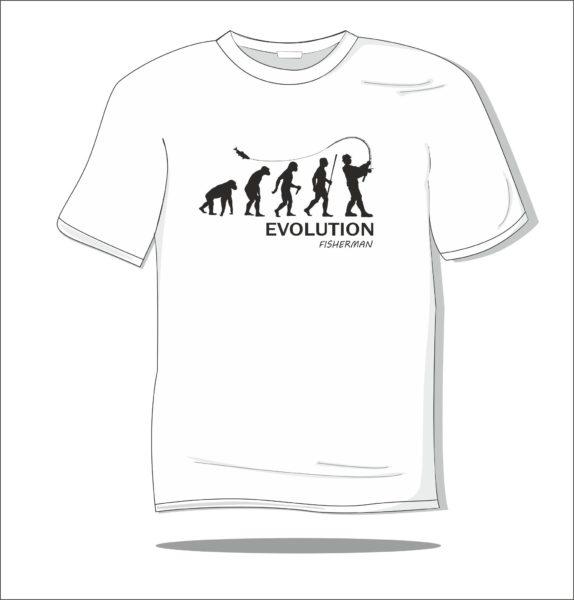 Koszulka z nadrukiem Evolution Fisherman