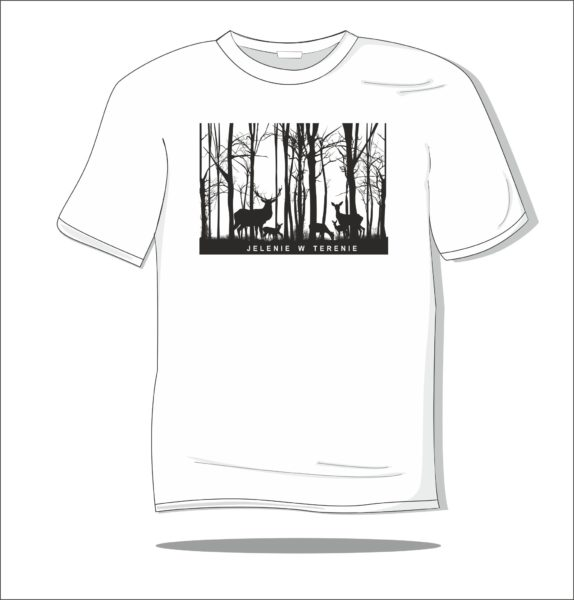 Koszulka z nadrukiem Jelenie w terenie