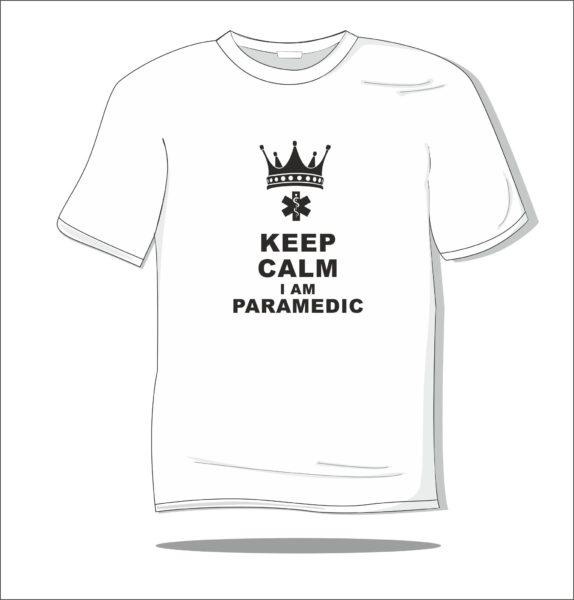 Koszulka z nadrukiem Keep calm am paramedic
