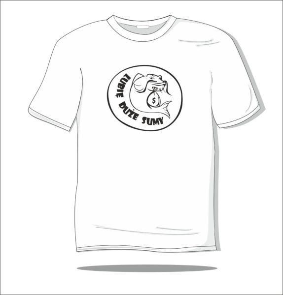 Koszulka z nadrukiem Rybka lubi pływać