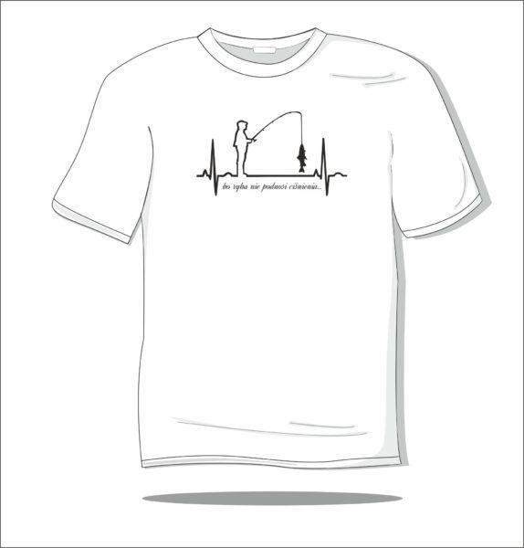 Koszulka z nadrukiem Miłośnik wędkarstwa