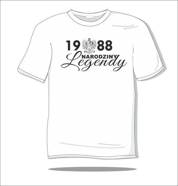Koszulka z nadrukiem Narodziny legendy