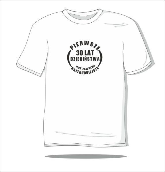 Koszulka z nadrukiem Pierwsze 30 lat