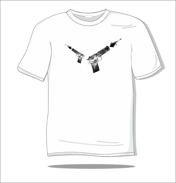 Koszulka czarna z nadrukiem Remington