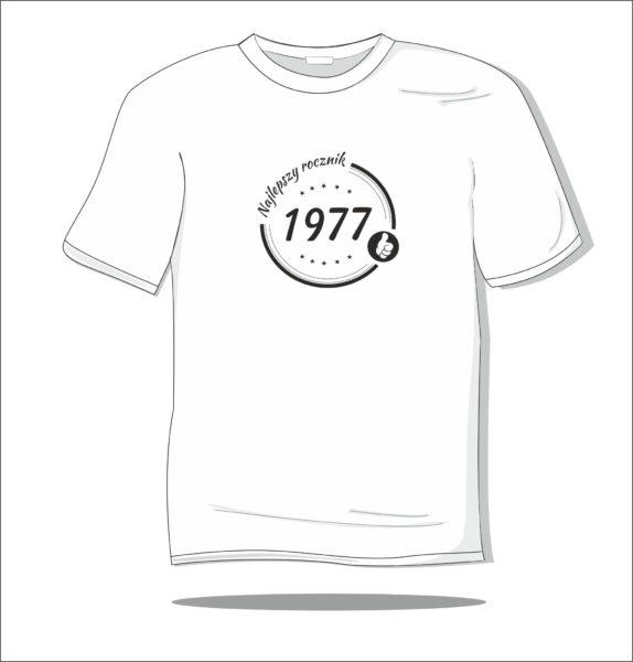 Koszulka z nadrukiem Rocznik 1977