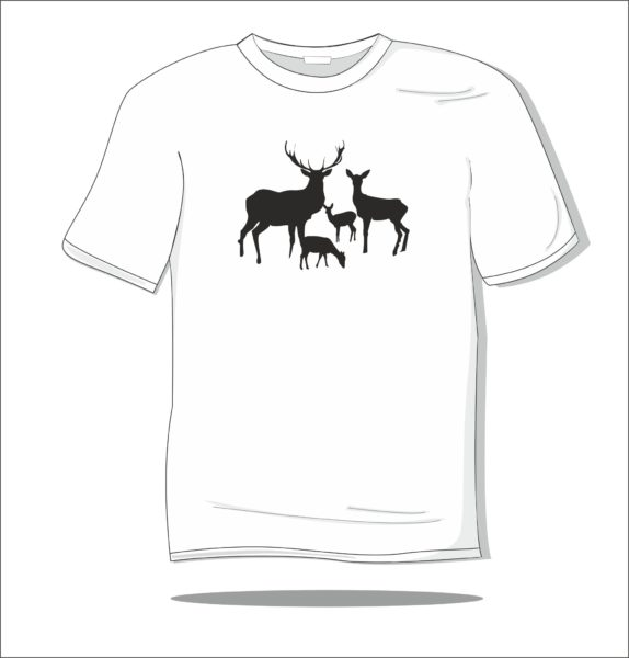 Koszulka z nadrukiem Rodzina jeleni
