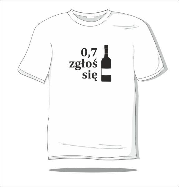 Koszulka z nadrukiem 0,7 zgłoś się