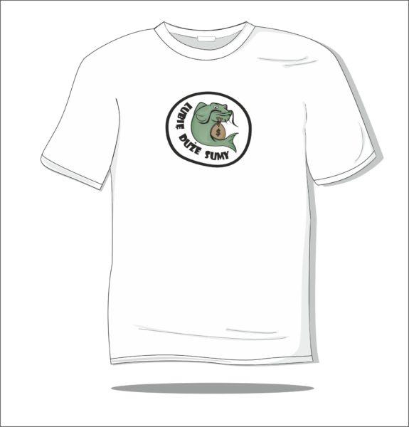 Koszulka z nadrukiem kolorowym Lubię duże sumy