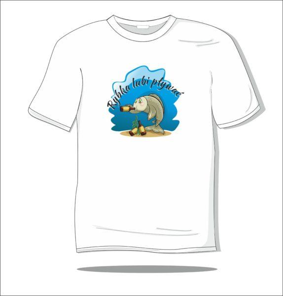 Koszulka z nadrukiem kolorowym Rybka lubi pływać