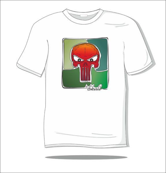 Koszulka z nadrukiem kolorowym Skull