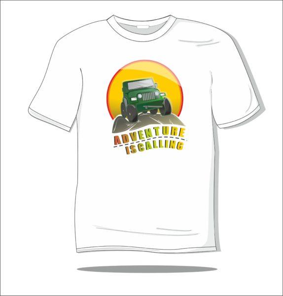 Koszulka z nadrukiem kolorowym Adwenture is calling