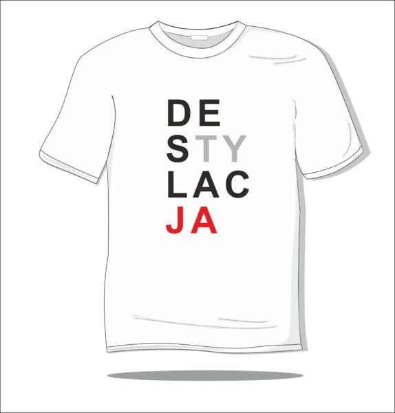 Koszulka z nadrukiem kolorowym Destylacja