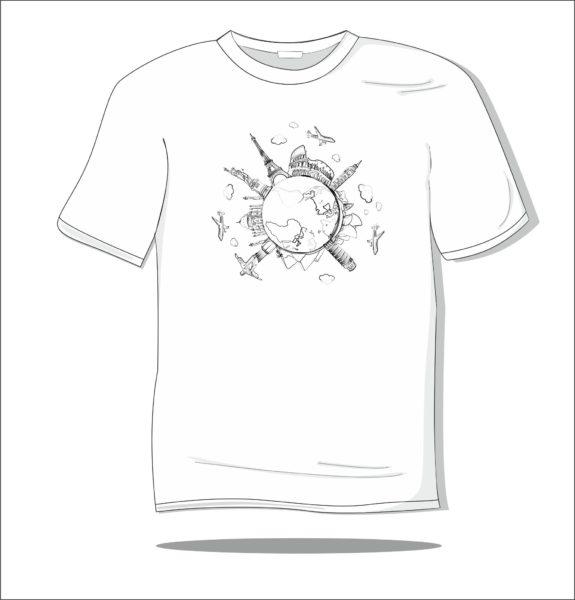 Koszulka z nadrukiem Dookoła świata
