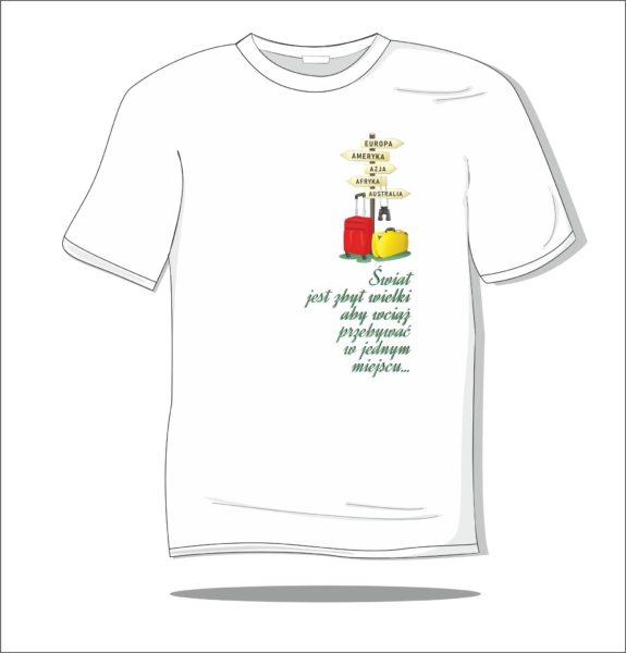 Koszulka z nadrukiem kolorowym Drogowskaz