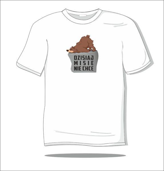 Koszulka z nadrukiem kolorowym Dzisiaj misie nie chce