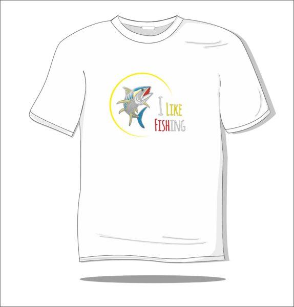 Koszulka z nadrukiem kolorowym I Like Fish