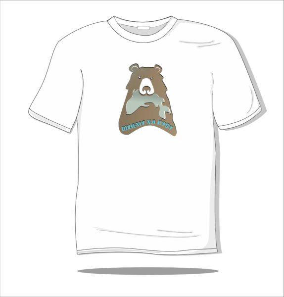 Koszulka z nadrukiem kolorowym Idziemy na ryby