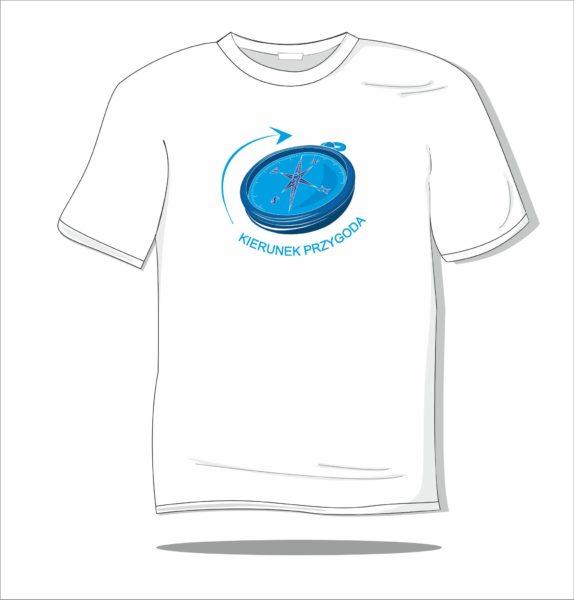 Koszulka z nadrukiem kolorowym Kierunek przygoda