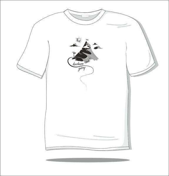 Koszulka z nadrukiem Kocham góry